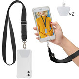 Bakeey Universal Phone Lanyard Length Adjustable Nylon Crossbody Shoulder Neck Cord Strap Cell Phone Lanyards Compatible with Most Smartphones