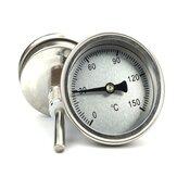 Niangge Metal Termometre Paslanmaz Çelik Malzeme Pilsiz Su Geçirmez Likör Yapma Aksesuarları