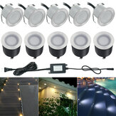 10x 32MMLED Deck Stair Light Impermeable Yard Garden Pathway Patio Landscape Lámpara