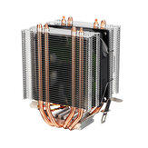 CPU Cooler Dual Tower for Intel LGA 775/1150/1151/1155/1156/1366 AMD 4 Heatpipe Radiator Quiet Cooling Fan Cooler for Computer