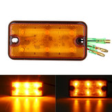 12V-80V 6 LED Indicator Amber Stop Rear Tail Lights For Boat Truck Trailer
