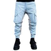 Casual Masculino Calças Costura de Seção Fina Calças Solto Confortável Respirável Harlem Calças