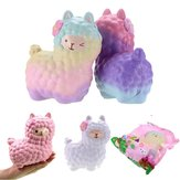 Vlampo Squishy Alpaca 17x13x8cm Licensed Slow Rising Original Packaging Collection Gift Decor Toy