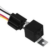 5 stks 12 v 40A auto automotive relais 4 pin 4 draden met harnas socket relais socket draad