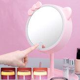 LED Макияж Зеркало USB Сенсорный экран Настольный косметический туалетный столик Зеркало для макияжа