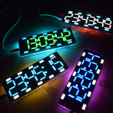 Geekcreit® DIY 6-cijferige LED groot scherm tweekleurige digitale buis Desktop Clock Kit Touch Control