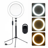 3-en-1 5-en-1 20CM LED Selfie Ring Light Bluetooth Remote Live Amovible Trépied Stand