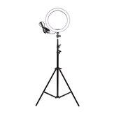 16cm LED Ringlicht dimmbar LED Beauty Ring Fülllicht Fotografie für Selfie Live Stream Broadcast mit Stativ Stand für Youtube Vloging