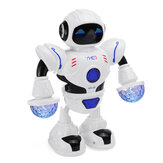 Игрушка-робот-космонавт Танцующая ходьба с мигающими огнями Звучащая детская игрушка