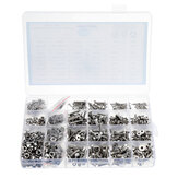 Suleve MXSH8 1220Pcs Stainless Steel Hex Socket Flat Head Screws Bolt Nuts Washers Assortment Kit M2 M3 M4 M5