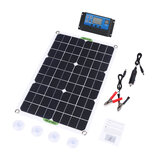 80W Solar Panel Kit Battery Charger Power Bank Camping Travel Generator with Controller