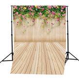5x7ft winylu kwiat podłoga drewniana fotografia tło do dekoracji rekwizytów fotograficznych Studio