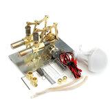 STEM Mini Sıcak Hava Stirling Motor Jeneratör Çift Silindir Motor Modeli