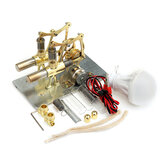 STEM Mini hete lucht Stirling Engine Generator Model met dubbele cilindermotor