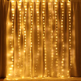 3 M * 2 M USB 200LED Gordijn Venster Fairy String Light Twinkle Christmas Party Wedding Holiday Outdoor Lamp