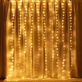 3M * 2M USB 200LED Vorhangfenster Fairy String Light Twinkle Weihnachtsfeier Hochzeitsfeiertag Außenlampe