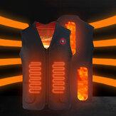 Жилет с подогревом легкий флисовый теплый 3 передач регулируемая USB аккумуляторная куртка моющаяся На открытом воздухе