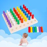 Μπλοκ επιτραπέζιων παιδιών Ξύλινα Παιχνίδια Παιχνίδι Montessori Δώρα Εκπαίδευση Παζλ Νωρίς για Νοημοσύνη Παιδικό Παιχνίδι Δώρο