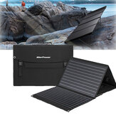 AlterPower 100W Solar Panels Waterproof Folding Solar Monocrystalline Silicon Board Power Bank Solar Charger Bag With 2 USB+DC forCamping Travel