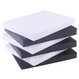 Maika 100 Uds A4 cartón grueso blanco / negro 120g papel para tarjetas de visita pintura papel duro dibujo arte para estudiantes Oficina