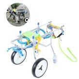 2 Tipo Cadeira de Rodas para Animais de Estimação Aço Inoxidável para Pernas Traseiras com Deficiência Cat Cachorro Desativado