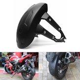Üniversal Motosiklet Arka Tekerlek Kapağı Sıçrama Muhafazası Çamurluk + Braket Siyah