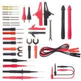 Ligne de test multimètre combiné ML-1708 32P-1 Ligne de stylo en silicone Banana Plug Ligne de test de fourche en U Câble de test de pince crocodile