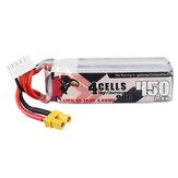CODDAR 14.8V 450mAh 90C 4S Lipo Батарея XT30 Вилка для зубочистки для помещений