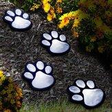 LED猫爪プリントソーラー芝生ライト犬猫子犬アニマルガーデンライトランプ用通路芝生庭屋外装飾