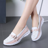 Women Walking Holow Slip Resistant Casual Slip On Flats