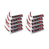 10Pcs URUAV 3.8V 250mAh 40C / 80C 1S Lipo Батарея PH2.0 для Eachine US65 UK65 URUAV UR65 Mobula7