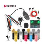 Κιτ μικροφώνου συμπυκνωτή ήχου GAM-800 για καραόκε με κάρτα ήχου μίκτη ήχου Bluetooth GAX-V9
