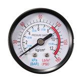 Bar Luchtdrukmeter 13mm 1/4 BSP Draad 0-180 PSI 0-12 Manometer Dubbele Schaal Voor Luchtcompressor