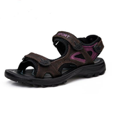 Formato Stati Uniti 5-9 delle donne Outdoor Leisure Beach Sports Wipering piatto morbide sandali casual scarpe di cuoio