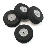 RC Wheels Black Foam Wheel Gray Plastic Hub for RC Model Plane Aircraft Fixed Wing 20mm/25mm/30m/35mm/40mm/45mm/50mm/60mm/65mm/70mm/75mm