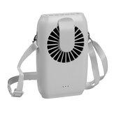 2000mAh Mini Ventilador Portátil Dual-purpose Fan Cintura USB Ventilador de Refrigeração de Mesa Pendurado no Pescoço Refrigerador de Ar