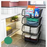 Dapur Rak Portabel Penyimpanan Multilayer Portabel Rumah Tangga Kamar Mandi untuk Buah Menerima