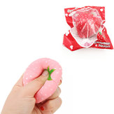 Squishyfun Strawberry Squishy Slow Rising 8CM Squeeze Toy Original Packaging Collection Gift