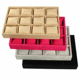 KINGSO 12 Slots Flannel Watch Jewellery Display Storage Box