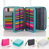 120 Slots Pencil Case Cosmetic Makeup Bag Storage Travel Zipper Pouch Student Stationery Drawing Pen