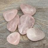 6pcs rosa cura cristal quartzo polido para decoração saúde