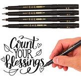 Baoke 12 pcs / box Pena Kaligrafi Set Addable Ink Fleksibel Isi Ulang Alat Tulis Menulis Menggambar Perlengkapan Kantor Seni Tanda Tangan