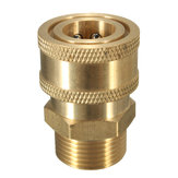 3/8 Inch Brass Quick Release Adapter Connect to M22 Metric For Pressure Washer Hose