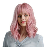Woman Pink Wigs Short Curly Heat Resistant Synthetic Natural Hair Green Wig for Black White Women Cosplay Bob Wigs