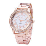 Fashionable Diamonds Stainless Steel Ladies Wrist Watch