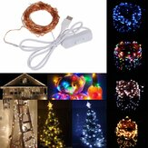10M 100 waterdichte USB LED Fairy String koperdraad HoliDay Light met schakelaar voor Party Decor