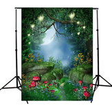 Fairy Tale World Green Forest Photographie Fond Tissu Toile Prototype