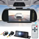 Wireless 7Inch LCD Mirror Monitor Car Rear View IR Reversing Camera Night Vision