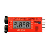 VM006 1-6S LiPo Battery Accurate Battery Voltage Meter LCD Liquid Crystal Display