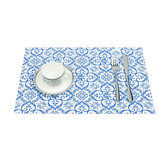 Placemat Fashion Pvc Dining Table Mat Disc Pads Bowl Pad Coasters Waterproof Table Cloth Pad Slip-Resistant Pad Multi-shape